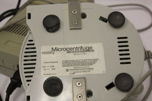 Fisher Scientific Denver Instruments Micro 16 Micro Centrifuge 201324.1 Rev A