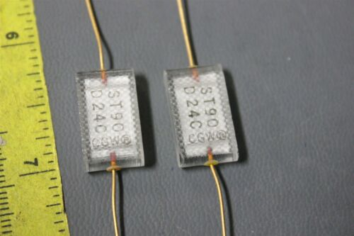 2 UNUSED CORNING GLASS CAPACITORS WITH GOLD LEADS 820PF