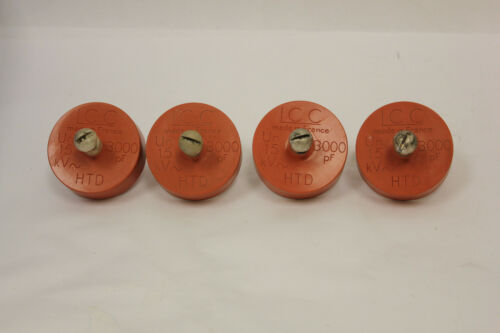 (4) LCC High Voltage Capacitor 3000 PF Un 15 HTD