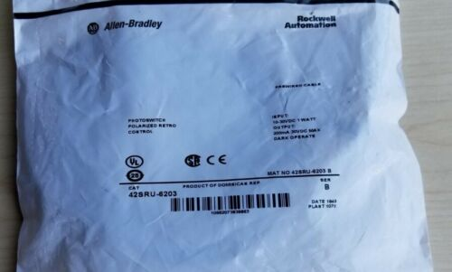 New Allen Bradley Photoswitch 42SRU-6203
