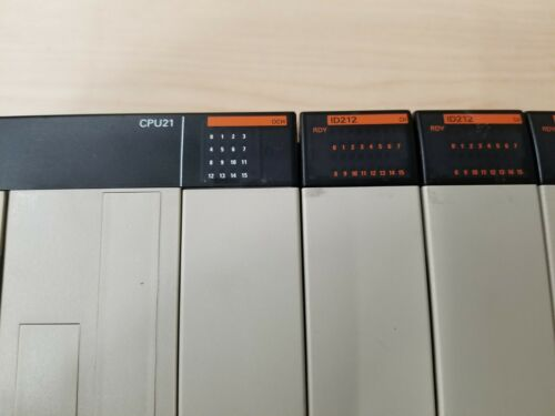 OMRON PLC RACK WITH MODULES - CPU, PS, I/O