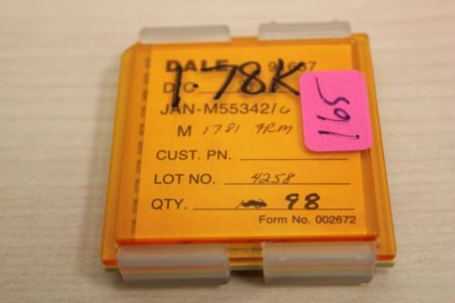 98 New Vishay/Dale Mil Spec Chip Resistors JAN M55342 1.78K