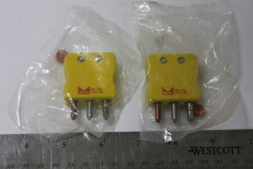 2 MARLIN 3 POLE GROUNDED THERMOCOUPLE CONNECTORS TYPE K
