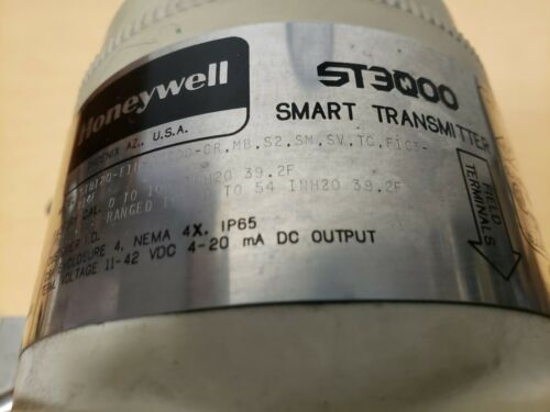 Honeywell ST3000 Smart Pressure Transmitter STD120-E1H-00000-CR.MB.S2.SM.SV.TC