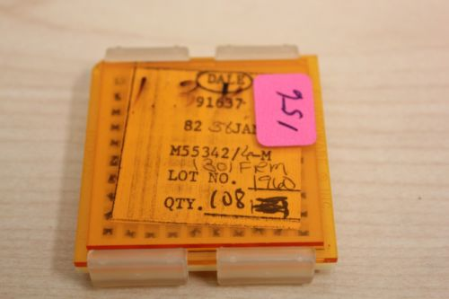 108 New Vishay/Dale Mil Spec Chip Resistors JAN M55342 1.30K