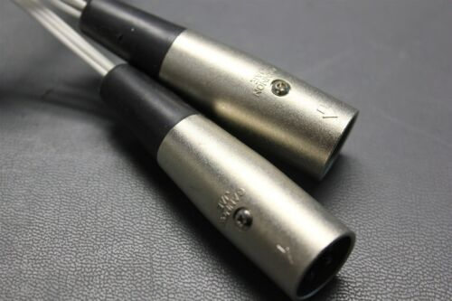 2 CONNECTED ITT CANNON JAE XLR CONNECTORS XLB-3-12C