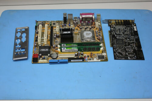 Asus P5B-MX Socket 775 Motherboard With Intel SLA94 2gb Ram Audigy 2 ZS Card