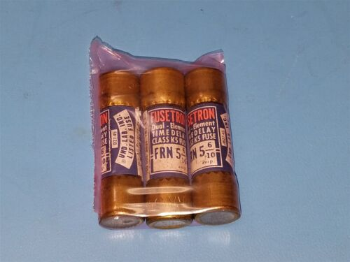 (3 PCS) FUSETRON FRN 5 6/10 TIME DELAY FUSES