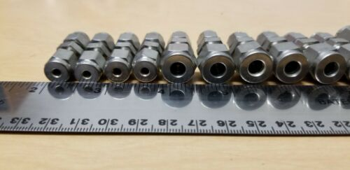 13 New Swagelok Stainless Steel Union Tube Fittings 5/16,1/4,1/8