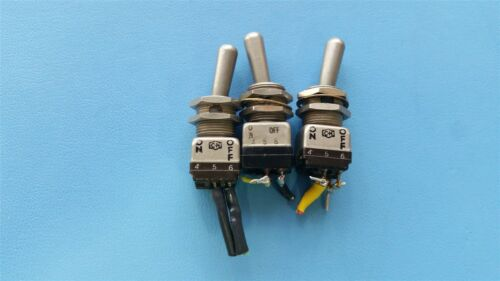 3 CUTLER HAMMER MIL SPEC ON/OFF TOGGLE SWITCHES MS90311-221