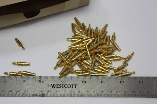 Lot of 28 Itt Gold D-sub Coax Pin/contact Connector Dm53740-31