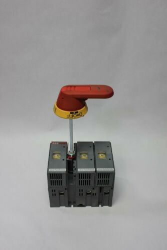 ABB 600VAC 60A Electrical Disconnect Switch W/3 Buss LPJ-40SP Fuses OS 60J12