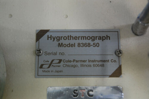 Cole Parmer Hygrothermograph 8368-50