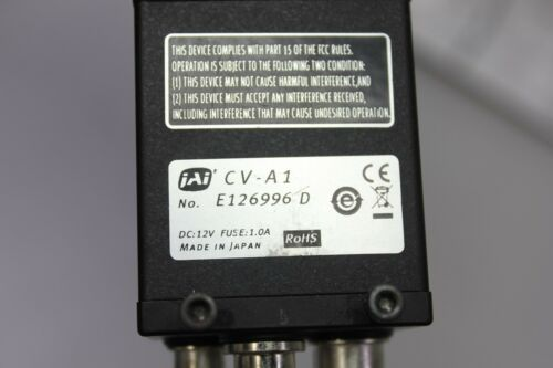 JAI CV-A1 Machine Vision Camera W/Moritex MML-PL25HR Prism & HiRES FixedMag Lens