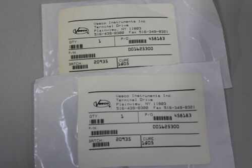 2 Veeco 001625300 Gasket Seal Seals O Ring -253F/TFE/C
