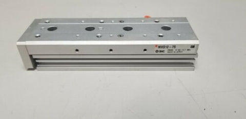 SMC Dual Rod Guided Pneumatic Linear Slide Table Actuator MXS12-75