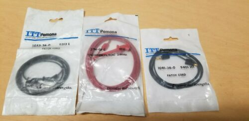 3 New Pomona Patch Cord Banana/Mini Grabber 1081 3784 5053
