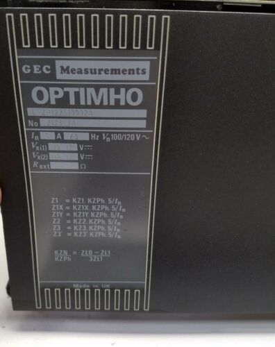 Gec Alsthom Optimho Protection Relay Lfzp122s10002a Measurements