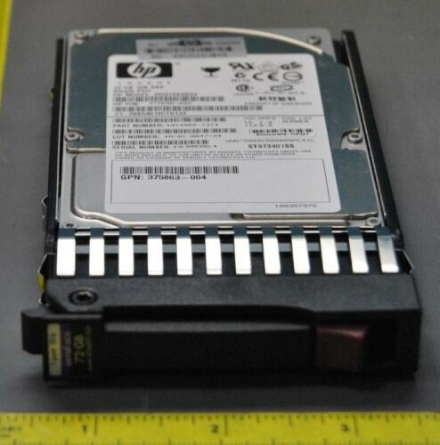 HP 72GB 10K RPM SAS SINGLE PORT SERIAL ATTACHED SCSI 375696-002 (S22-3-56D)
