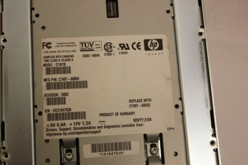 hp storageworks dat 40 Internal Tape Drive 20 GB c7497b