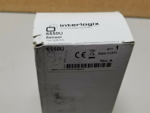 New Interlogix 50ft PIR Sensor 6550U