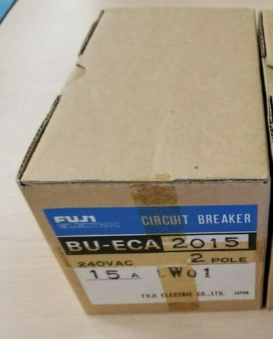 New Fuji 15A Circuit Breaker BU-ECA2015 240VAC 2 Pole