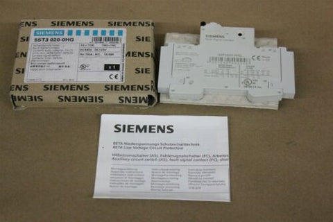 NEW SIEMENS AUXILIARY CIRCUIT SWITCH 5ST3 020-0HG