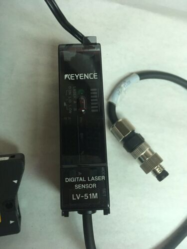 Keyence Digital Laser Sensor Head & Amplifier Main Unit LV-51M and LV-H37