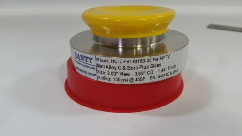 "CANTY ALLOY C & BOROSILICATE CIRCULAR SIGHT GLASS VIEW PORT 2"" HC-2-FVTR"