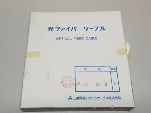 New Mitsubishi Optical Fiber Cable For PLC AS-2P-2M-B Melsecnet Melsec