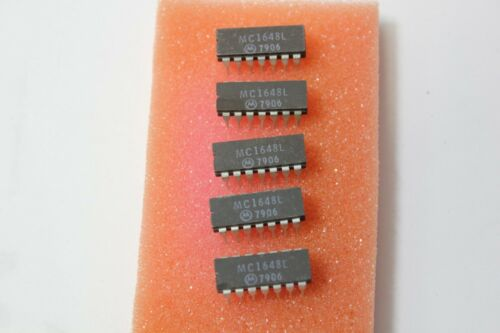 5 Motorola MC1648L IC DIP 14 Ceramic