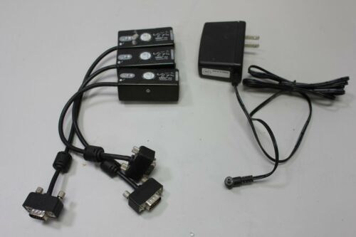 3 SP Controls Catlinc VGA Transmitter Cat5 Audi Video 38ZT + Power Supply