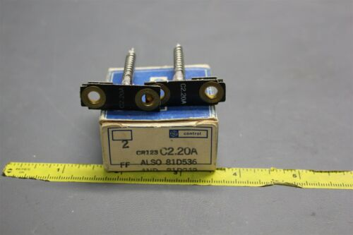 2 GE OVERLOAD RELAY HEATERS THERMAL UNIT CR123 C2.20A