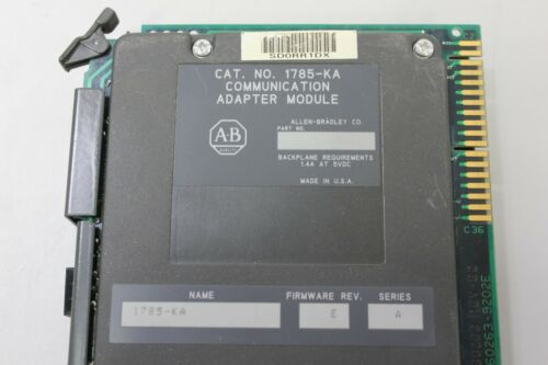 Allen Bradley 1785-KA FW. E COMMUNICATION PLC MODULE