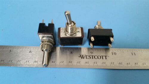 3 UNUSED VINTAGE ARROW-HART ON/OFF TOGGLE SWITCH 3A 250V 4POLE