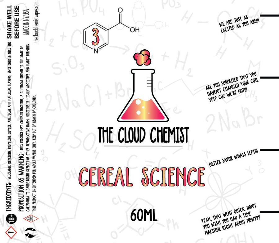 The Cloud Chemist Cereal Science eJuice