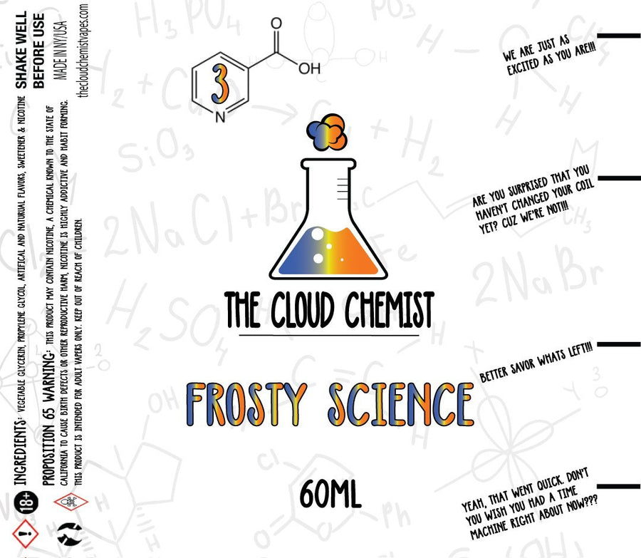 The Cloud Chemist Frosty Science eLiquid