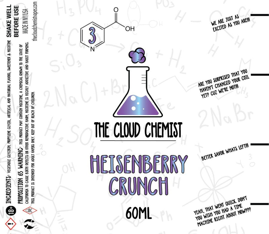 The Cloud Chemist Heisenberry Crunch e Juice