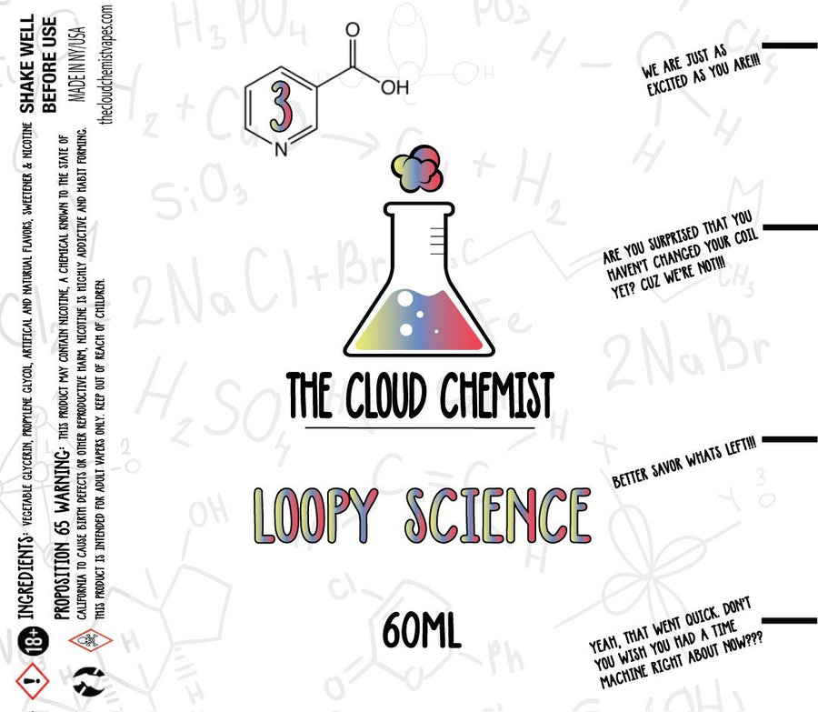 The Cloud Chemist Loopy Science eJuice