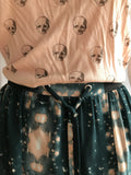 Forest Deep Green Pink Patterned Pastel Goth Skirts - BAD HABIT