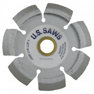 "4.5"" X .375"" X 7/8"" PREMIUM DRY CUT BLADE WITH ""V"" SHAPED SEGMENTS"
