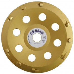 "7""X7/8"" PCD 6 QUARTER ROUND & 3 SWEEPER SEGMENTS"