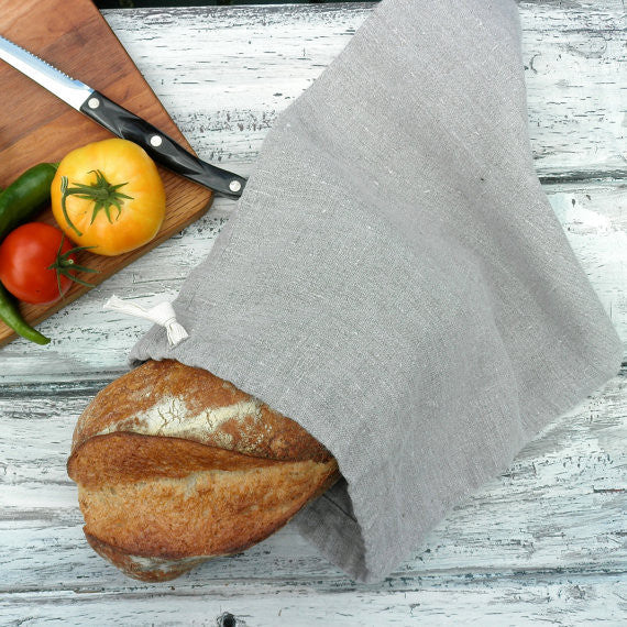 Linen Long Bread Bag