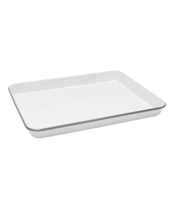 Enamel Rectangular Jelly Roll Tray