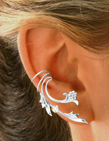925 Sterling Silver Small Hoops Earrings and Dangling Star DTPSilver