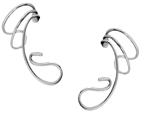 Tear Drop Converter Sterling Silver Ear Cuffs Earrings