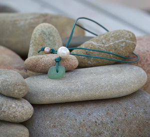 Greek Sea Glass Necklace 2