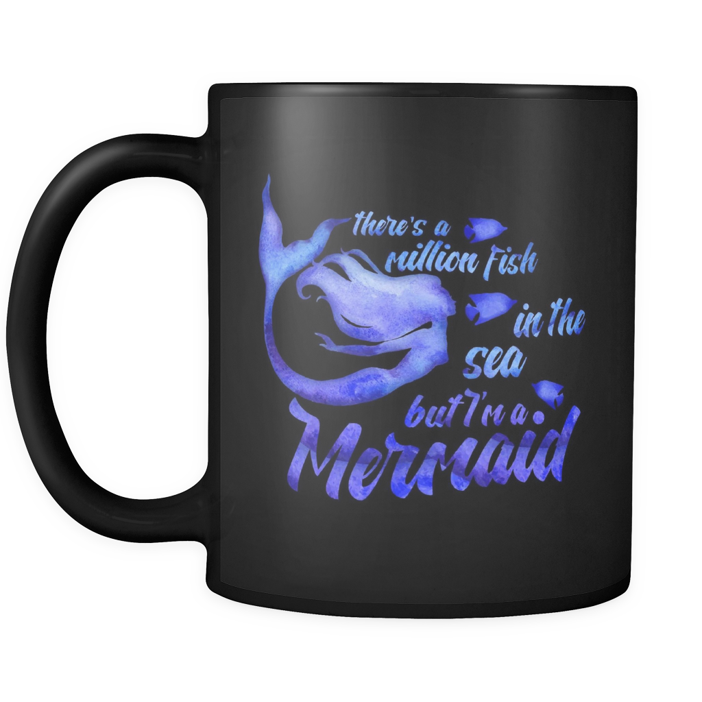 Black Mermaid Mug