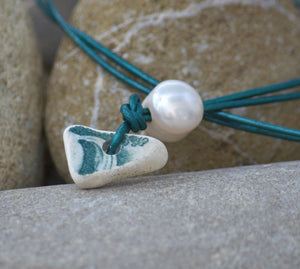Greek Sea Pottery Necklace 4