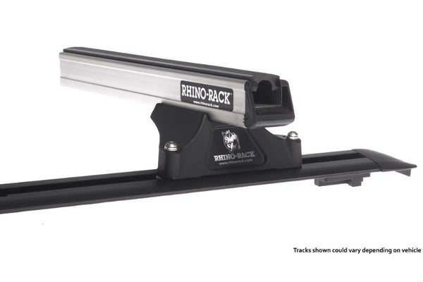 HEAVY DUTY RLTP TRACKMOUNT SILVER 2 BAR ROOF RACK
